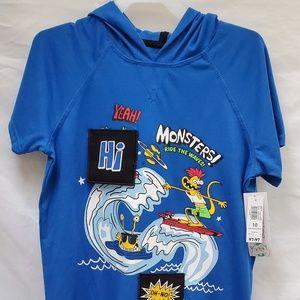 Hoodie Monsters ride the waves! Sz. 10
